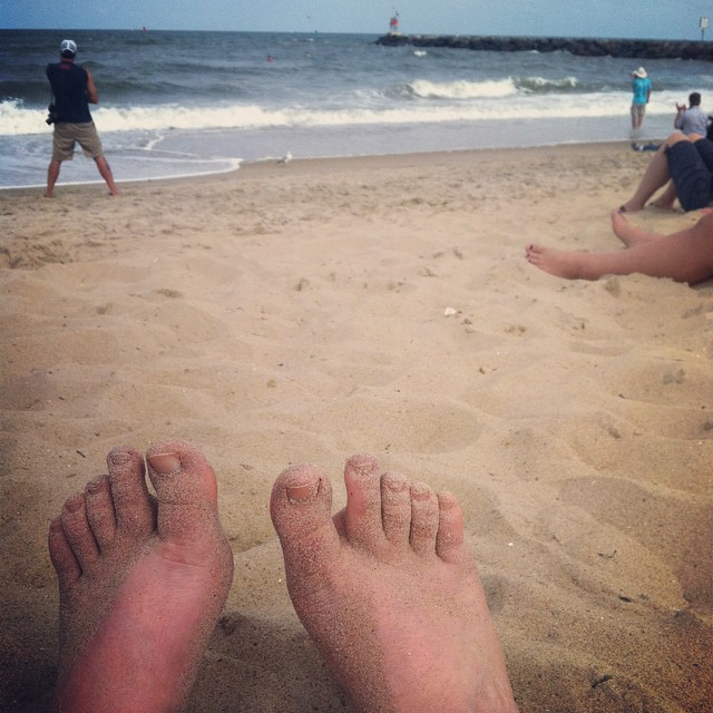 Toes At The Beach