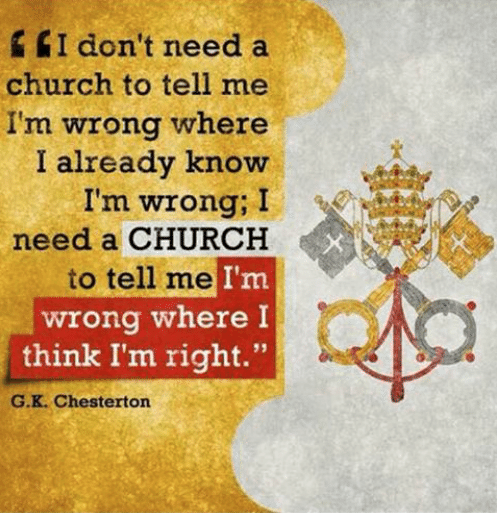 GK Chesterton Church Tells Me I'm Wrong