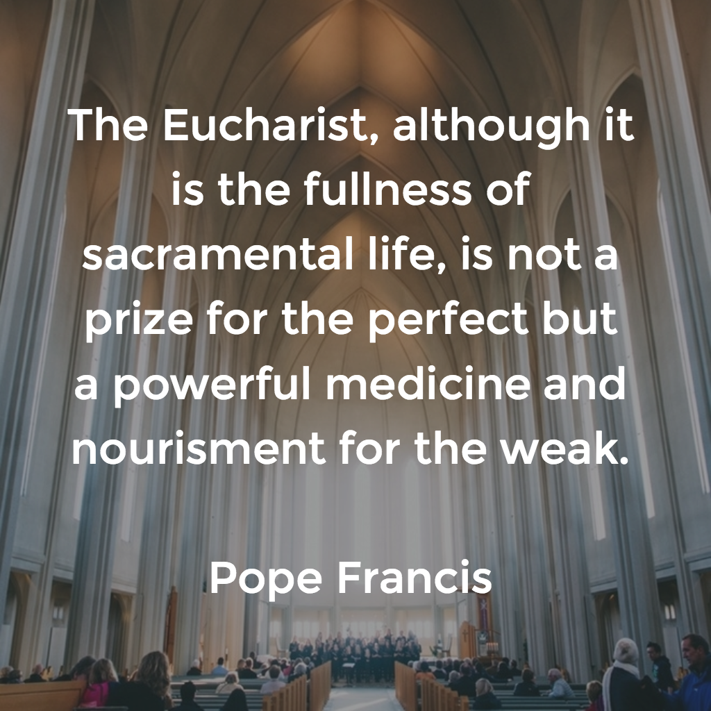 Pope Francis Eucharist Medicine For the Sick