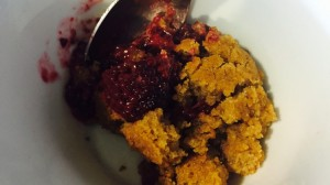 Paleo AIP Plantain-Based Berry Cobbler